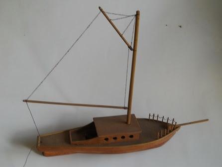 cara membuat kerajinan perahu dari bambu